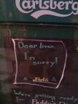 Dear Liver I'm Sorry
